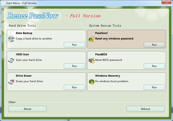 Renee PassNow - Software de Restauração do Sistema