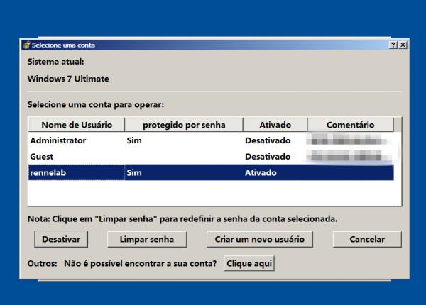 exibe todos os sistemas Windows