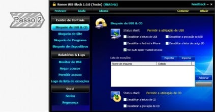 Bloqueio de USB && CD