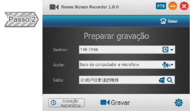 Menu principal de Renee Screen Recorder