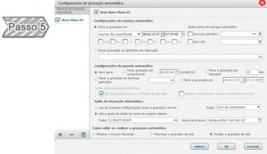 Configurações de gravação automática