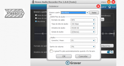 Execute o Renee Audio Recorder Pro