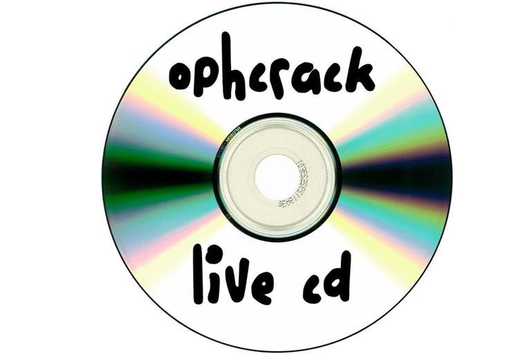 Grave o arquivo Ophcrack LiveCD ISO