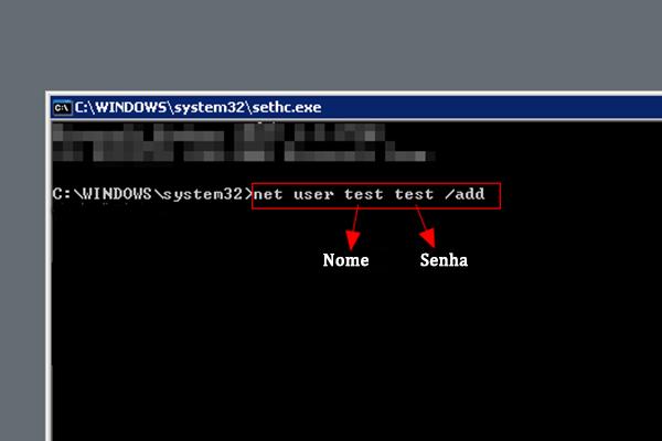 command prompt add user