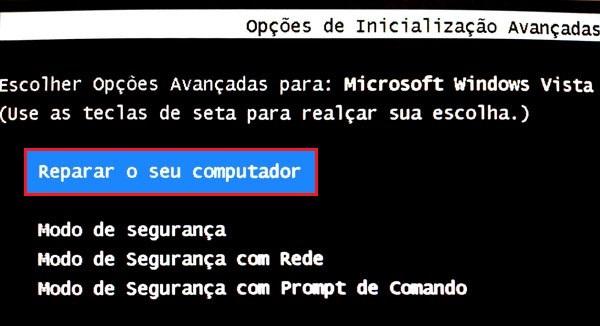 repare o seu computador