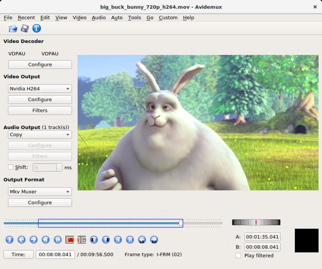 Avidemux é um programa para cortar video grátis