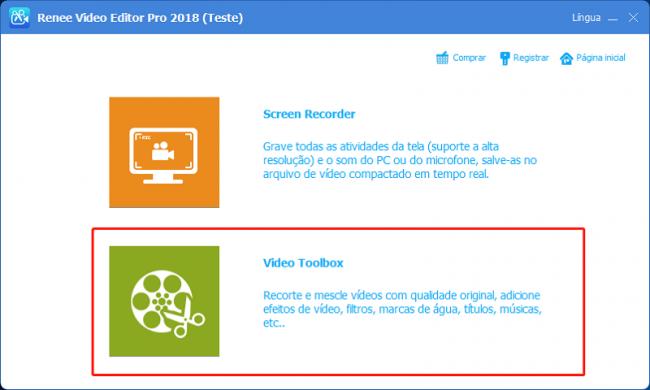Escolher Video Toolbox