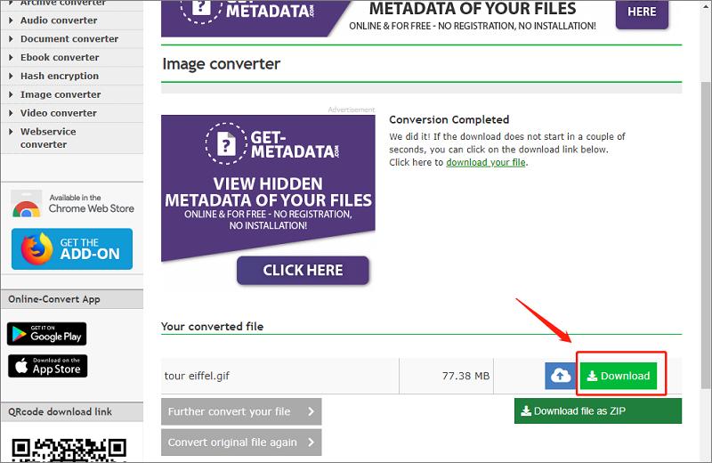 Online webservice converter2