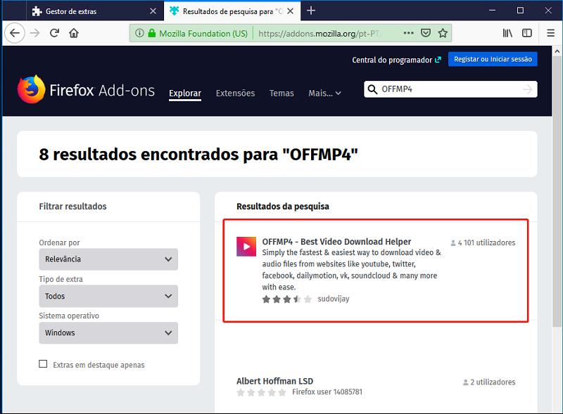 firfox extra OFFMP41