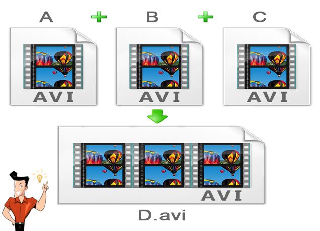 juntar vídeos AVI