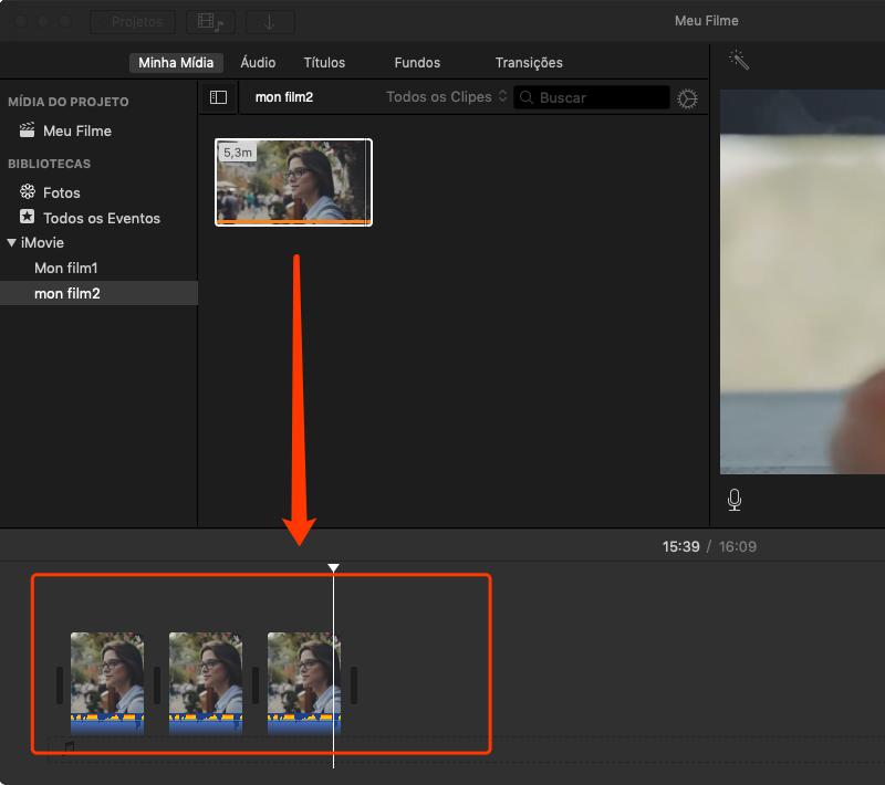 prepara editar clips