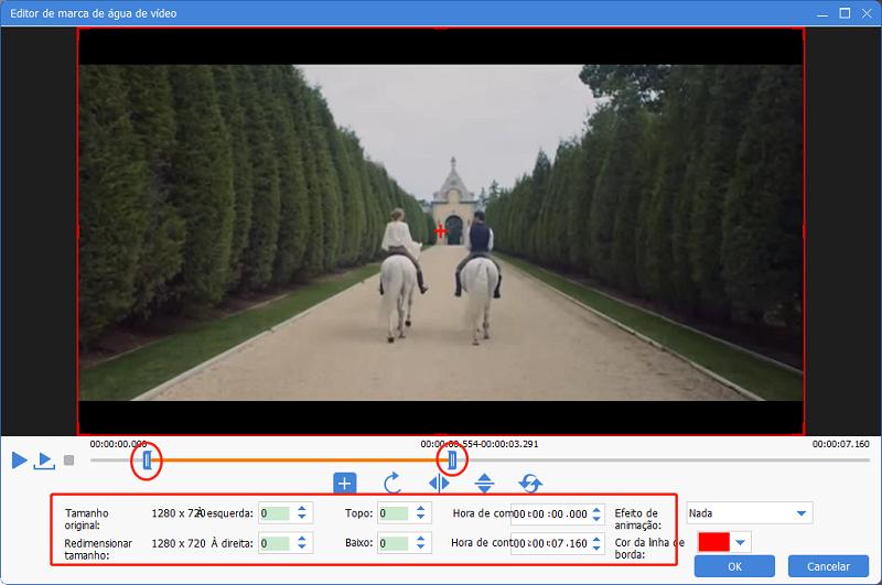Configurar marca d'água de vídeo