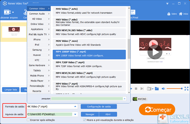 converter MKV para MP4 com video editor pro