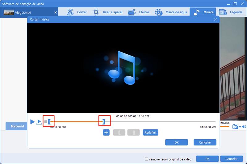 configurar a duração de música