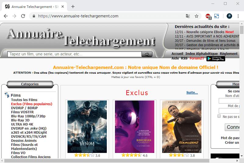site Annuaire Telechargement