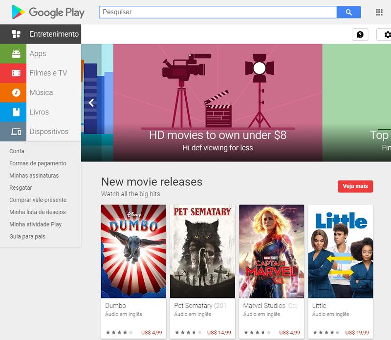 site googleplay em portugês