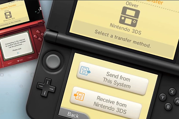 receive from Nintendo 3DS