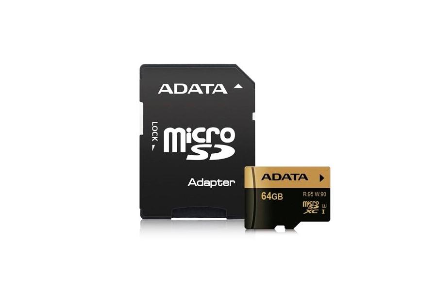 cartão ADATA 64GB U3 micro SDXC