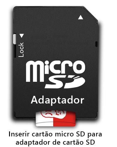 usar adaptador de cartão SD