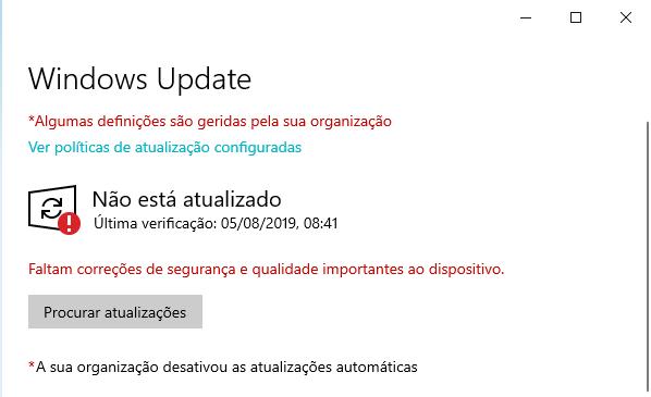 erro de Windows update