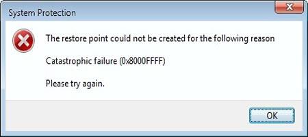 código do erro 0x8000ffff