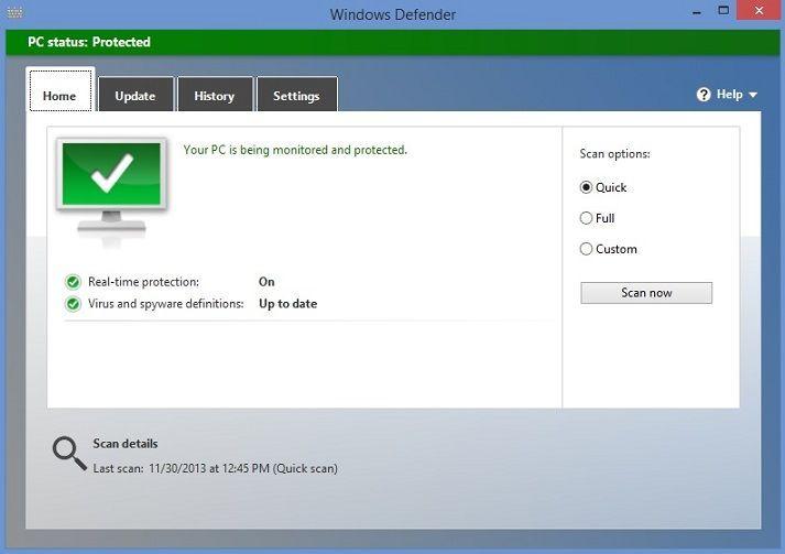 software antivírus do Windows