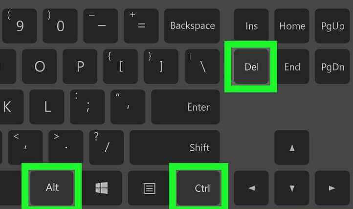 Pressione ctrl+alt+del no teclado
