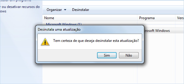 desinstalar KB971033 no Windows 7