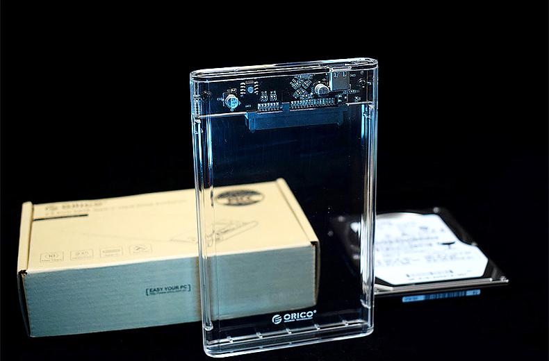 um caixa de disco rígido de 2,5 polegadas