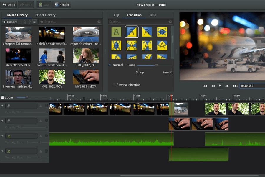 Programa PITIVI para cortar vídeo