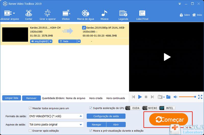 Juntar os vídeos VOB