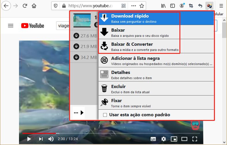 Baixar vídeo de YouTube