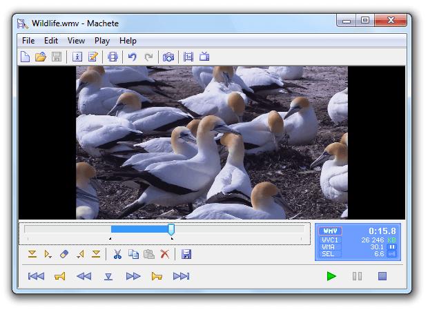 Machete Video Editor Lite é um programa para cortar vídeo online grátis
