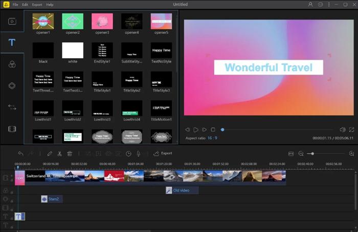BeeCut é um software versátil de edição de vídeo de animação
