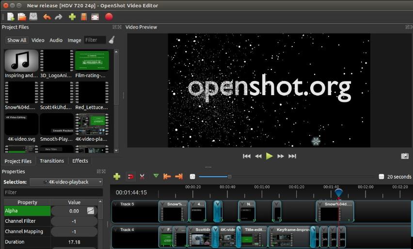 OpenShot é um software gratuito de tela verde
