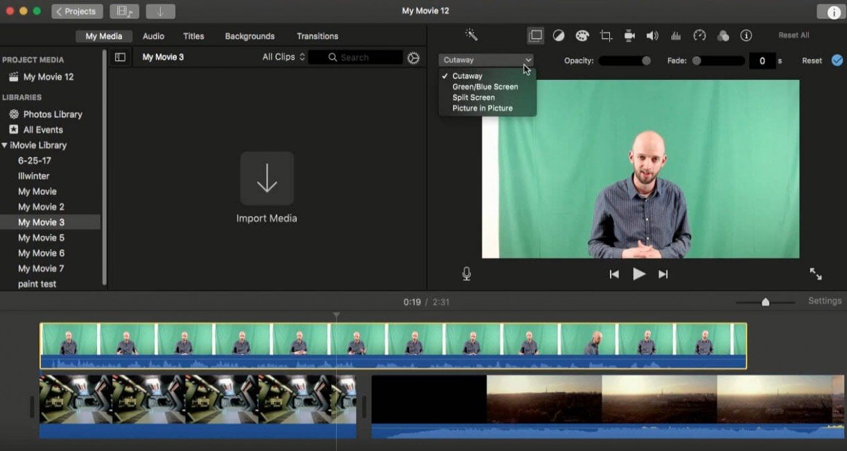 iMovie é um aplicativo que acompanha o Mac