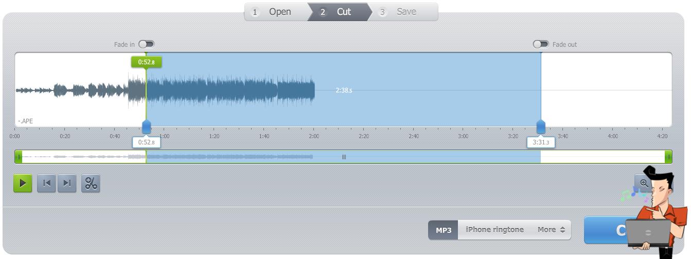 cortar música online com Audio Cutter Pro