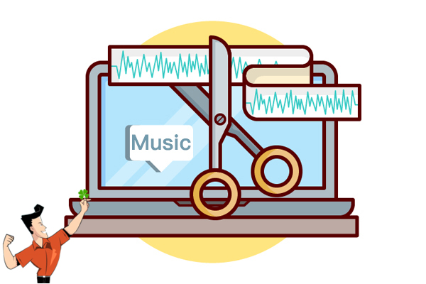 cortar música com o cortador