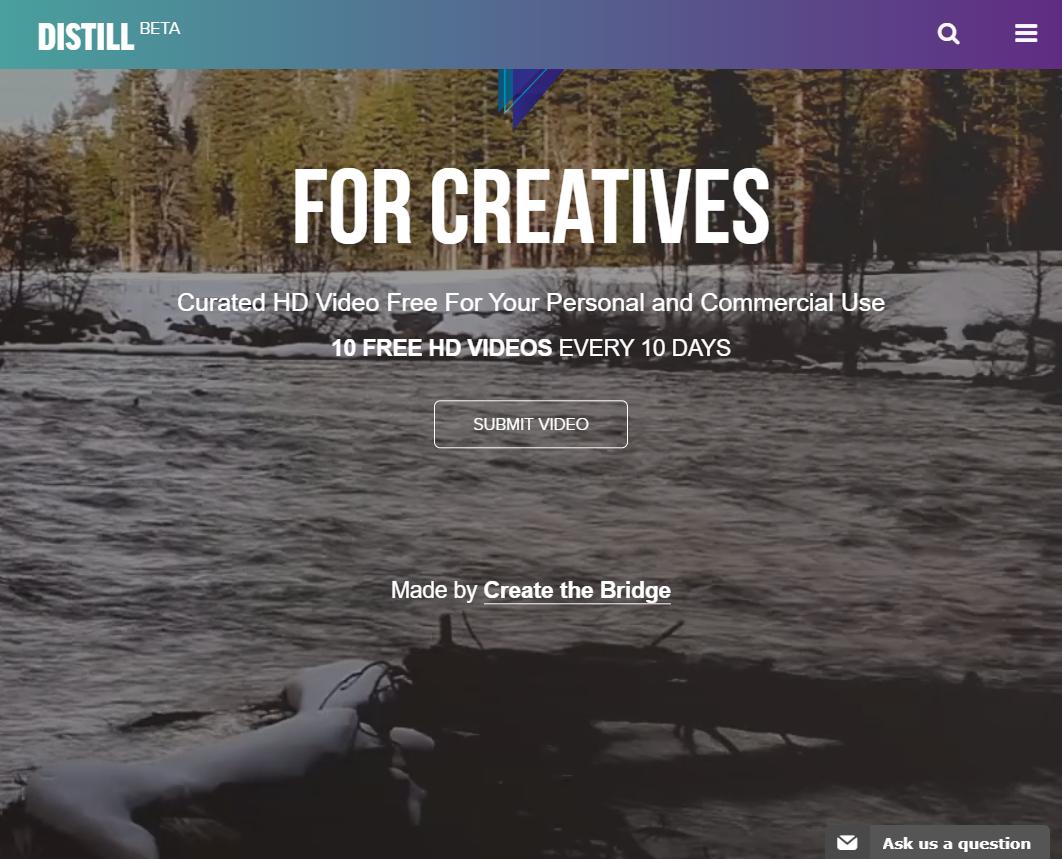 Distill é uma plataforma gratuita de vídeo