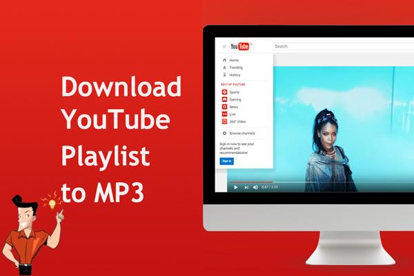 como usamos o programa para baixar as músicas de uma playlist do YouTube para arquivos MP3?