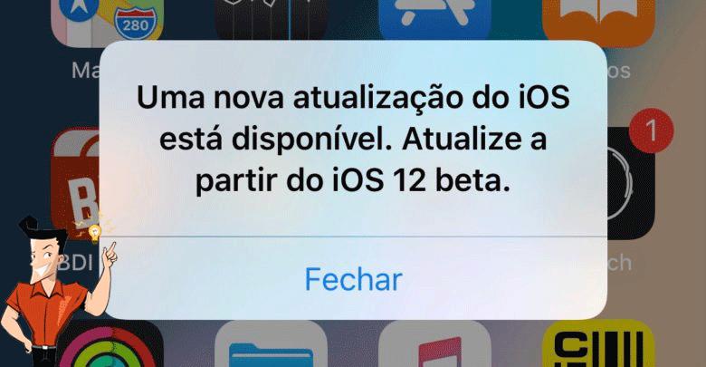 Como desativar a notificação de atualização do iOS