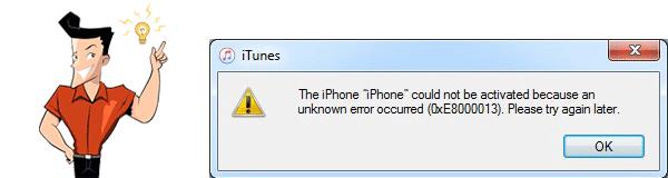 o que é o erro 0xE8000013?