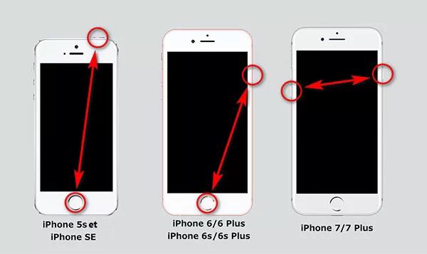 reinicie iphone de diferentes modelos