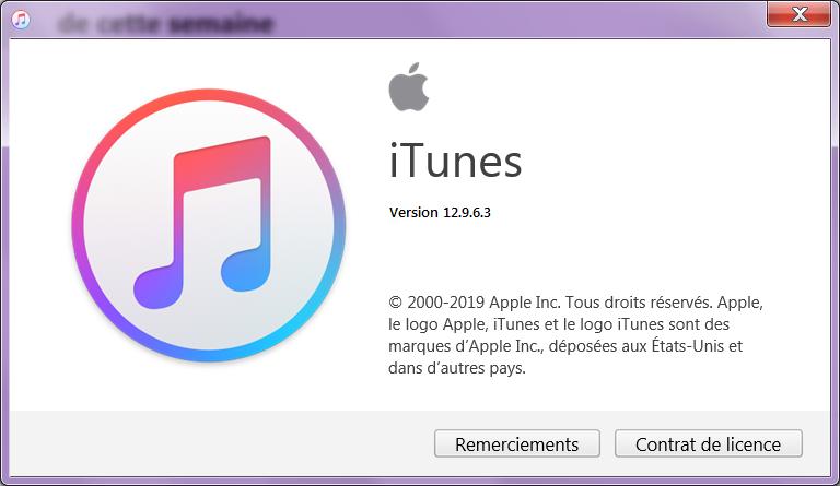 verifique a versão do iTunes