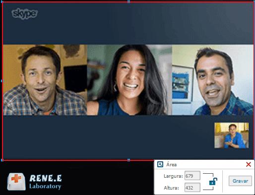 gravar conversa skype