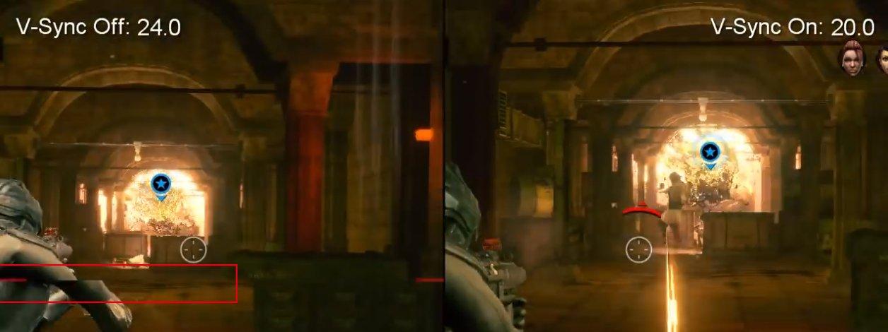 segundo exemplo de sincronização vertical em imagem