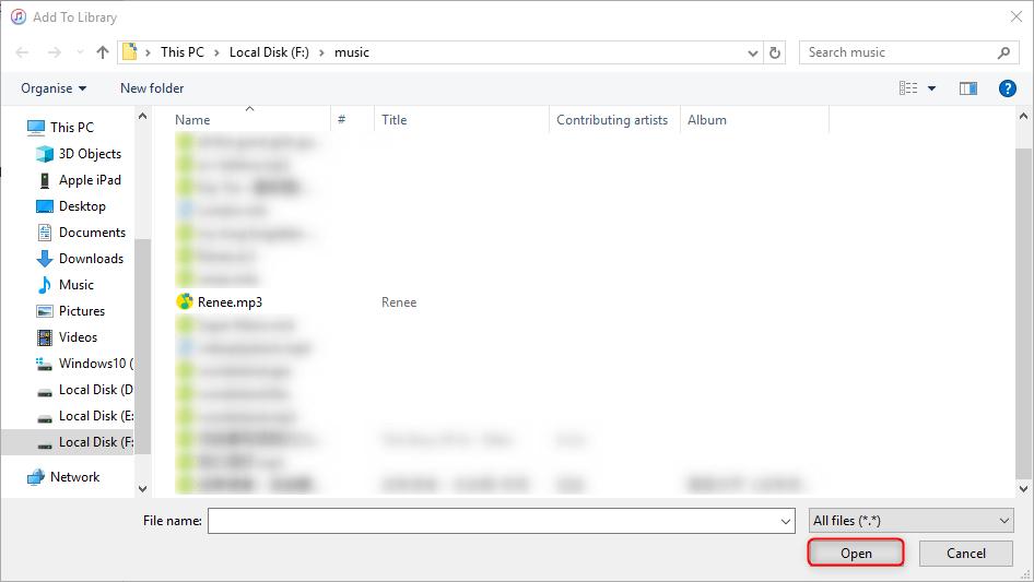 selecione o arquivo wma
