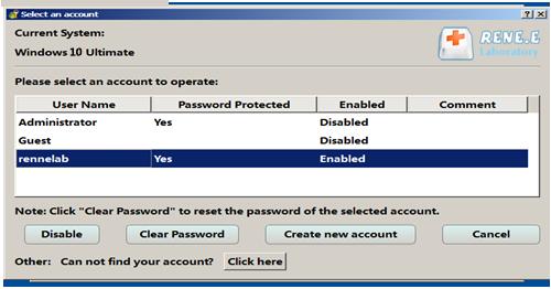 remova a senha do Windows com Renee PassNow