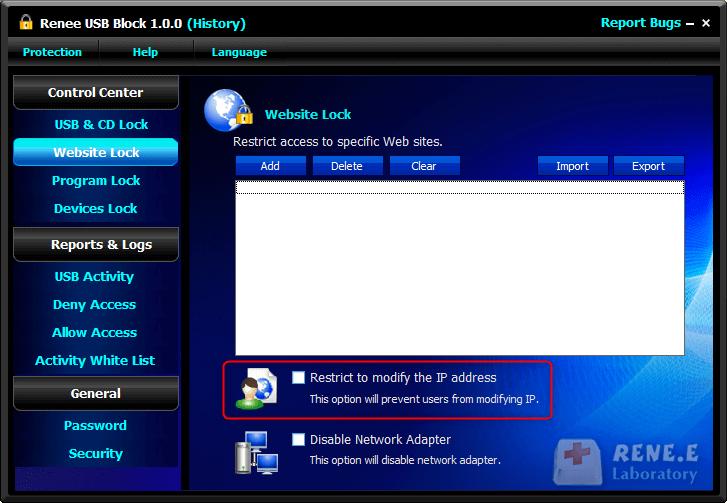 controlar remotamente o computador com Renee USB Block