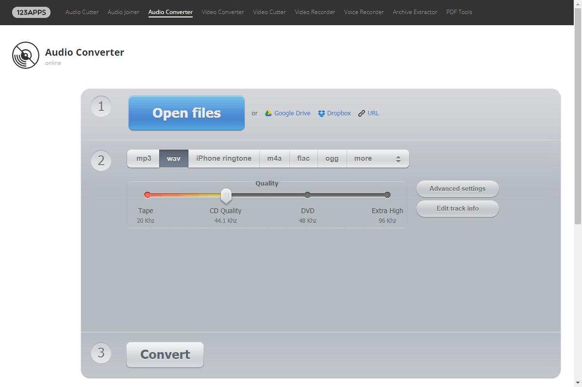 converter m4a para wav com Online Audio Converter